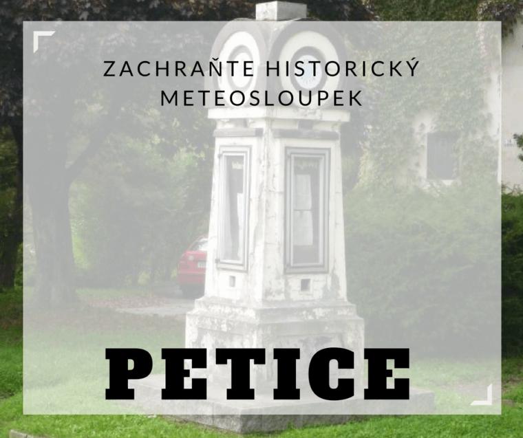 Petice: Zachraňte historický meteosloupek v centru Vsetína